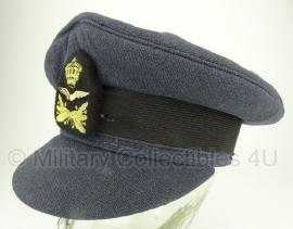 Nederlandse Luchtmacht platte pet 1968 Onderofficier - met insigne - maat 55 - origineel
