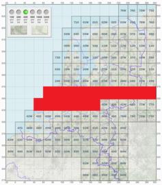 KL Nederlandse leger topografische stafkaart 1:50000 - nr. 30 t/m 39 - op rol - 60 x 60 cm - origineel