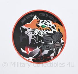 KLU Koninklijke Luchtmacht sticker 60 jaar 313 SQN 313 Squadron 1953-2013 60 - diameter 10 cm - origineel