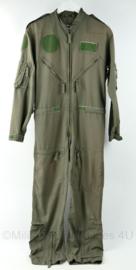 Klu Luchtmacht vlieger overall met Officiersrang Luitenant-Kolonel  -  Kwintet KLM kleding 2004 - maat 46 /172 - origineel