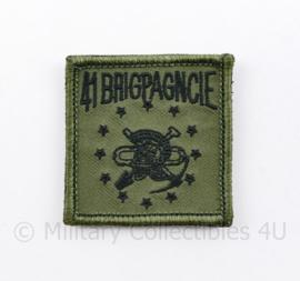 KL Nederlandse leger 41 BRIGPAGNCIE 41 Brigadepantsergeniecompagnie borstembleem - met klittenband - 5 x 5 cm - origineel