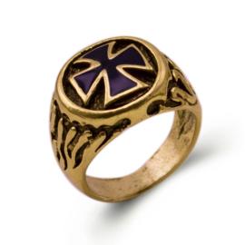WO2 Duitse ring IJzeren kruis - goud - maat 20 mm - replica