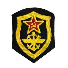 Russisch USSR embleem spoorweg troepen - 8 x 6,5 cm. - origineel