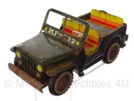 Jeep MF-722 model vintage voertuig handgemaakt! - 17 x 8 x 7,5 cm - origineel