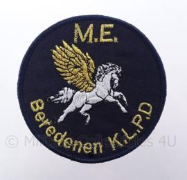 """Nederlandse ME Mobiele Eenheid embleem """"Bereden KLPD Koninklijke Landelijke Politie Dienst"""" -  diameter 9 cm"""