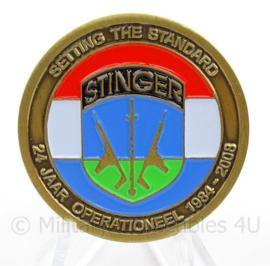 RNLAF Royal Netherlands Air Force Coin GGW Groep Geleide Wapens 24 jaar Stingerteams KLu - doorsnede 4 cm - origineel