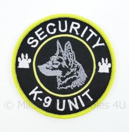 Security K-9 Unit embleem - met klittenband - diameter 9 cm