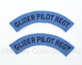 WO2 Britse British Glider Pilot Regt shoulder title paar - 11 cm breed