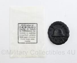 Wo1 en Wo2 Duits Verwundete Abzeichen zwart in origineel LDO medaille zakje - model medaille van voor 1939 - origineel