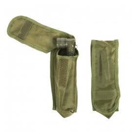Hoeklamphouder koppeltas voor leger zaklamp - groen of zwart