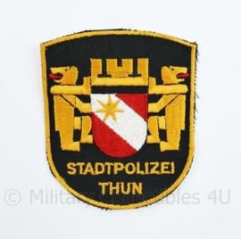 Zwitsers embleem Stadpolizei Thun embleem - 9 x 7,5 cm - origineel