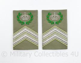 Defensie stratotex epauletten paar Compagnie Sergeant Majoor - 8 x 5 cm - origineel