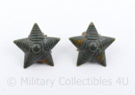 Russische leger groen paar sterren - 2 x 2 cm - origineel