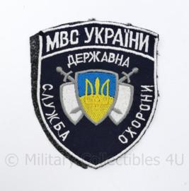 Oekraïens politie embleem Ukraine Ykpaiha MBC - 12 x 10 cm - origineel