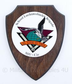 Wandbord school Luchtmobiele Brigade SSV-Cie - 18,5x15x1,5 cm - origineel