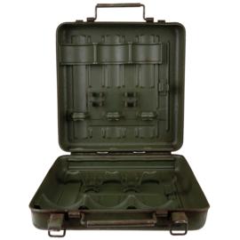 Italiaanse leger MÖRSER 81 granaat metalen munitiekist - afmeting 30 x 30 x 10 - origineel