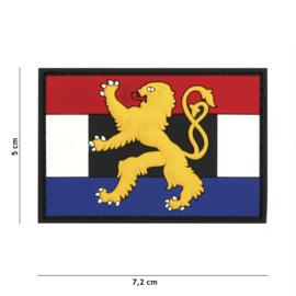 Embleem 3D PVC met klittenband - Benelux - 7,2 x 5 cm.