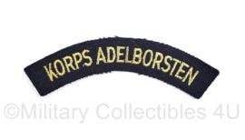 Koninklijke Marine straatnaam Korps Adelborsten - 12,5 x 2,5 cm- origineel