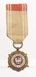 Poolse leger medaille 5 jaar trouwe dienst - origineel