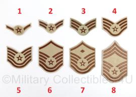 USAF US Air Force Desert BDU rang PAAR - origineel