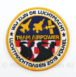 KLu Koninklijke Luchtmacht embleem Luchtmachtdagen 2019 Volkel Team Airpower  - met klittenband  - 9 cm. diameter