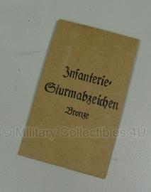 Hoesje - Infanterie Sturmabzeichen brons - replica