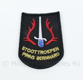 KL Nederlandse leger Stoottroepen Prins Bernhard embleem - met klittenband - 8 x 6 cm