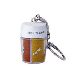 Trek'N Eat kruidenpotje sleutelhanger navulbaar - met peper, zout, curry- en paprikapoeder