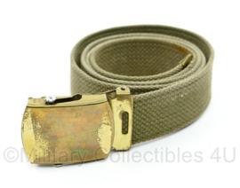 Wo2 US Officer broekriem met goudkleurig slot - 103 x 3 cm - origineel