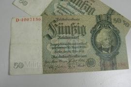 Reichsmark Briefgeld WO2 - 50 RM