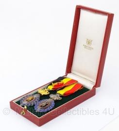 Belgische ereteken van de arbeid medaille set met doosje - Origineel