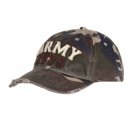 "Baseball cap stone washed - ""Army"""