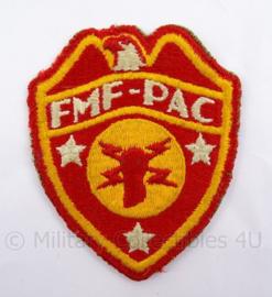 WO2 USMC Marines embleem - FMFPAC Fleet Marine Force Pacific Signals - 7,5 x 9  cm - origineel