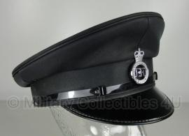 Britse politie heren platte pet - Bedfordshire Police -  geheel zwart - maat 58 - origineel