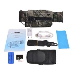 Infrarood Digitale Nachtzicht Verrekijker met 8GB Mini SD kaart en draagtas (past ook op wapen) - CAMO