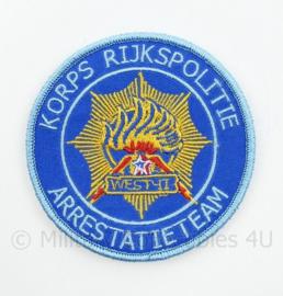 Korps Rijkspolitie Arrestatieteam West II embleem - met klittenband - diameter 9 cm