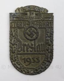 WO2 Duits schild NSKK Sternfahrt 1933 - afmeting 5,5 x 9 cm - replica