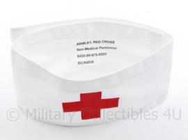 """Rode kruis armband """"klein kruis""""  - met klittenband - nieuw! - origineel"""