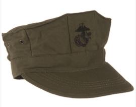 USMC pet - GROEN met zwart USMC logo Ripstop - L of XXL