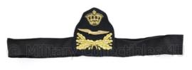 KLU Luchtmacht onderoffciers platte pet insigne met band - 30 x 8,5 cm - origineel