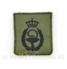 KL Nederlandse leger Hogere Militair-Farmaceutische Bekwaamheid borstembleem - met klittenband - 5 x 5 cm - origineel