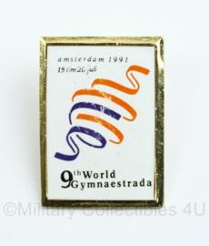 9th World Gymnaestrada 1991 speld - 2,5 x 3,5 cm - origineel
