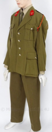 M63 Stoottroepen Officiers Majoor uniform SET (vroeg model) jas, broek en oranje koord - met originele insignes - maat Large - origineel