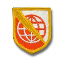 US Army Strategic Communications Command Europe patch - cut edge - Vietnam oorlog - 6,5 x 5 cm - origineel