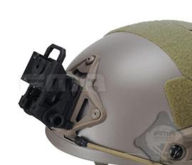 Night vision helmet mount DOVETAIL Helmsteun voor nachtkijker voor MICH FAST helm ZWART (zonder helm) - Bijv. voor PVS-7a en PVS-7B