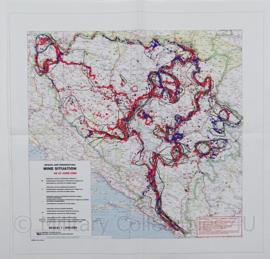 Leger Topografische kaart Bosnia Herzegowina Mine Situation 1:850 000 - 46 x 46 cm - origineel
