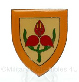 Zuid Afrikaanse badge Militaire Academy Krijgskunde universiteit Stellenbosch - 6,5  x 5 cm - origineel
