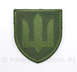 Ukrainian Army patch emblem Flag Cossack Sables GREEN - met klittenband  - 8,5 x 7 cm - origineel