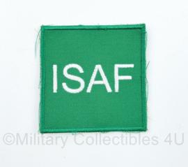 Defensie ISAF borstembleem - met klittenband - 7 x 7 cm - origineel