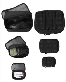 Set van 3 MOLLE tassen met ritsen - nieuw gemaakt - BLACK